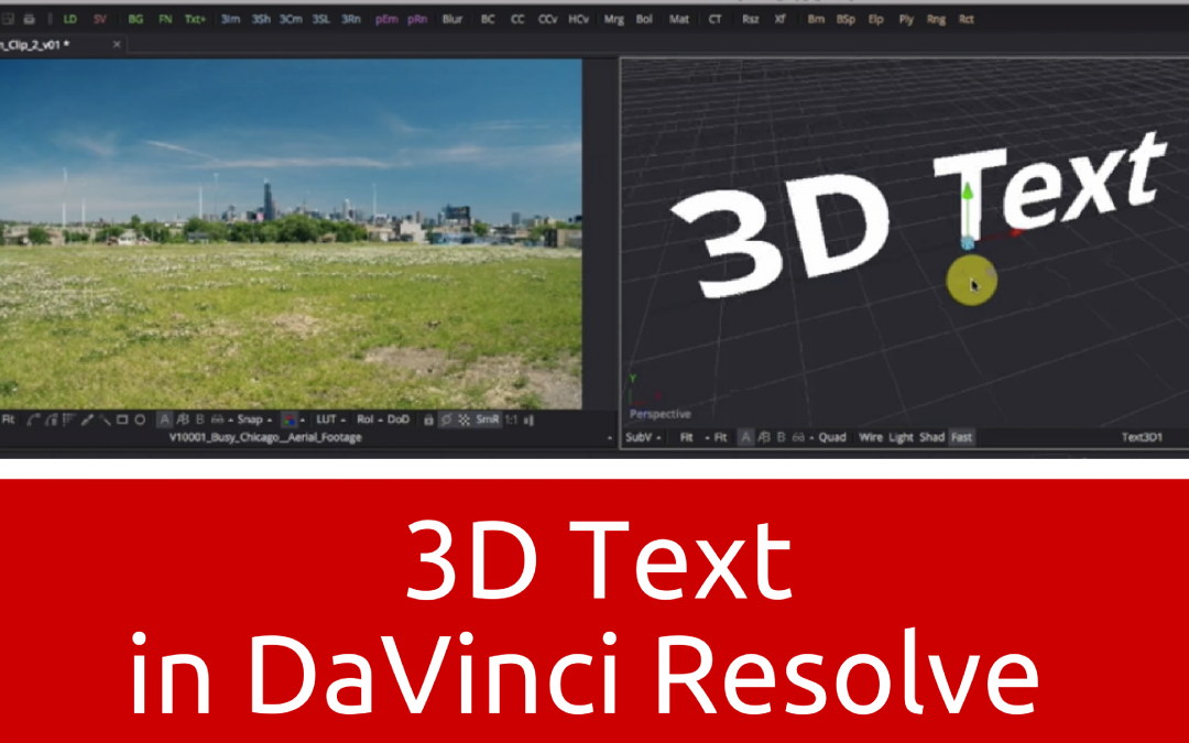 How to Create 3D Text in DaVinci Resolve 12.5
