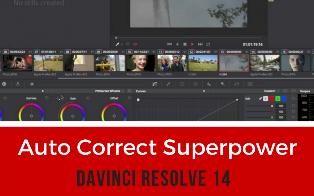 Auto Correct Superpower -DaVinci Resolve 14