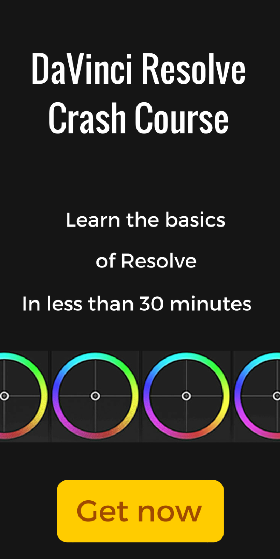 Davinci Resolve crash course