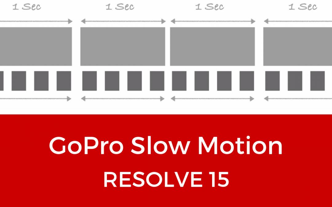 GoPro Slow Motion Settings in DaVinci Resolve